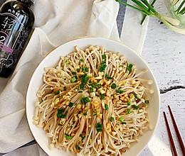 #味达美名厨福气汁,新春添口福#油泼蒜香金针菇粉丝的做法