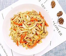 杏鲍菇炒肉的做法