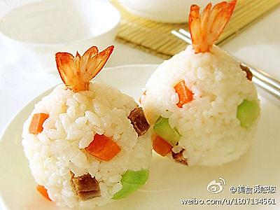 超诱人——炸虾饭团