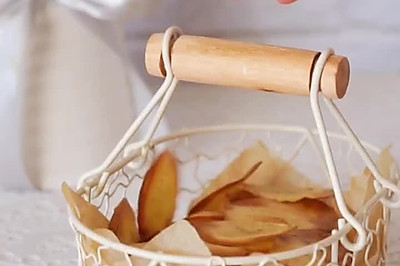 0脂0糖嘎嘣脆 追剧必备 原味薯片 烤箱版