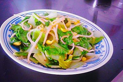 家常菜灬小白菜炒豆芽