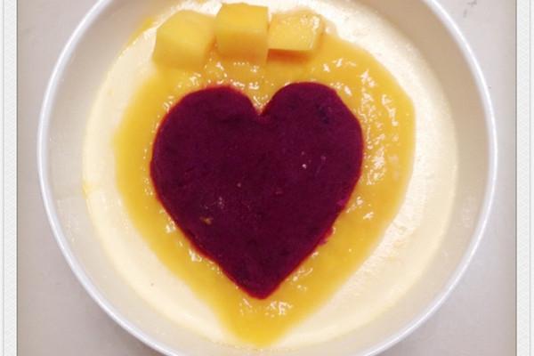 """芒果紫薯牛奶炖蛋(心有所""""薯"""")的做法"""