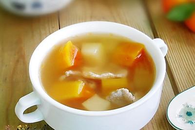 清爽香甜、润泽肌肤--青红木瓜肉片汤