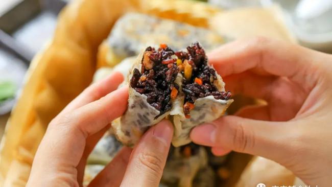 紫米馅锅贴【宝宝辅食】的做法