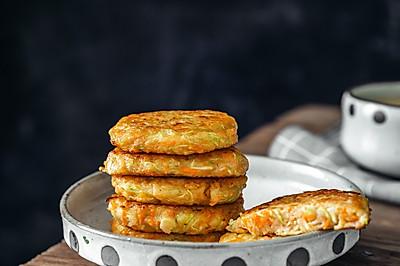 西葫芦鲜虾饼,元气满满营养早餐饼