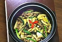 鲍汁双菇粉丝煲的做法