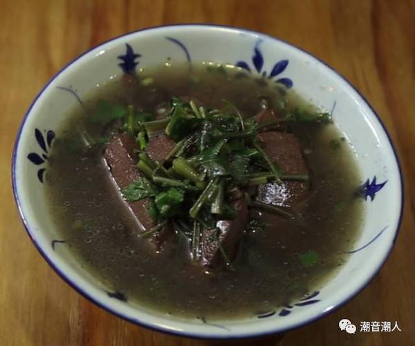 潮音潮人:潮汕猪血汤的做法