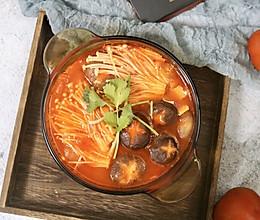 酸甜开胃的杂菌番茄火锅的做法