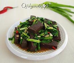 羊血炒韭菜的做法