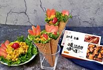 健康快手小白也能轻松做-时蔬咖喱炒饭脆筒#安记咖喱快手菜#的做法