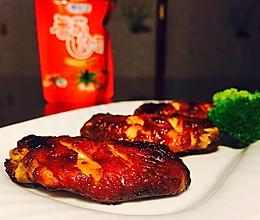 番茄酱烤鸡翅#十万个喂什么#(做给宝宝们吃的菜)的做法