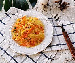 #今天吃什么#胡萝卜鸡蛋炒粉丝的做法