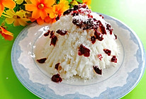 椰丝蔓越莓山药糕