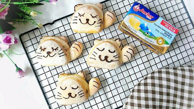 猫咪可爱小餐包的做法