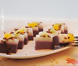 山药紫薯桂花糕#浪漫樱花季#的做法