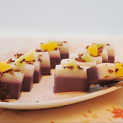 山药紫薯桂花糕