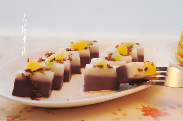 山药紫薯桂花糕的做法