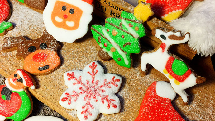圣诞糖霜饼干#圣诞烘趴 为爱起烘#
