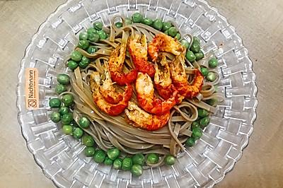 减脂菜:小龙虾荞麦面