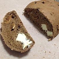 麦香可可果仁奶酪大欧包的做法图解9