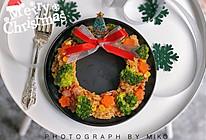 #令人羡慕的圣诞大餐#圣诞花环炒饭的做法