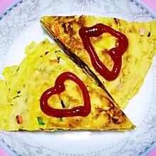 中式披萨~自制鸡蛋饼