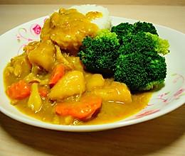 宿舍咖喱鸡肉饭的做法