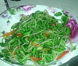 红椒炒豆苗的做法
