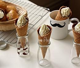 #新鲜新关系#无蛋香草冰淇淋&冰淇淋甜筒的做法
