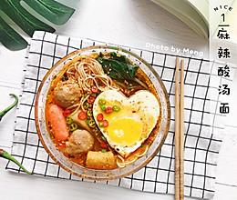 【简单快手】麻辣酸汤面#美食新势力#的做法