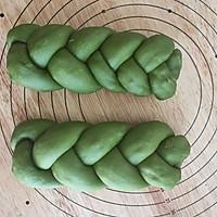 抹茶蜜豆辫子面包的做法图解15