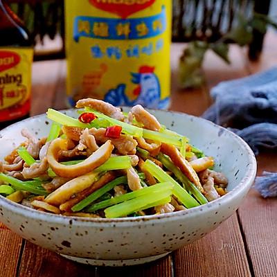 香芹豆干炒肉丝