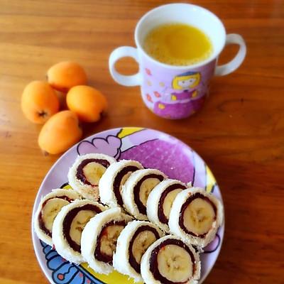 香蕉豆沙卷