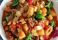 茄子炒肉的做法