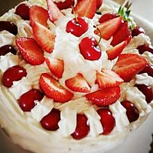 戚风蛋糕(8寸)——奶油生日蛋糕的一条龙做法