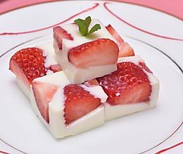 #安佳万圣烘焙奇妙夜# 草莓牛奶羊羹