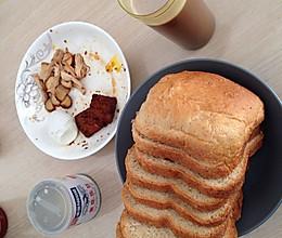 无糖全麦粉无添加剂面包机面包的做法