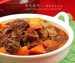 茄红牛腩煲的做法