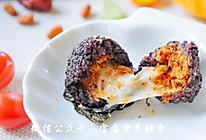 紫米爆浆饭团的做法
