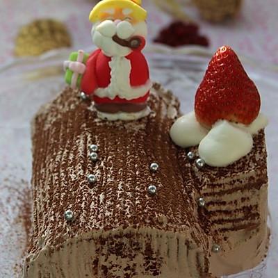 圣诞节一定要吃的 最经典的蛋糕 --- 圣诞树根蛋糕
