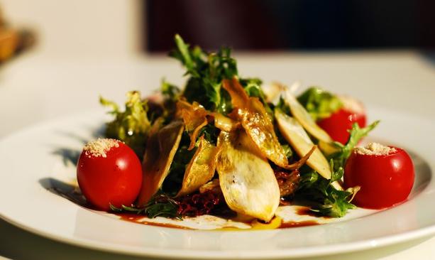 橄榄油蘑菇色拉配特制甜醋的做法