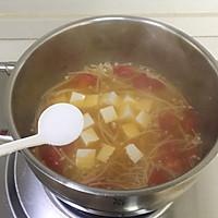 暖心暖胃【茄汁金针菇豆腐汤】的做法图解6