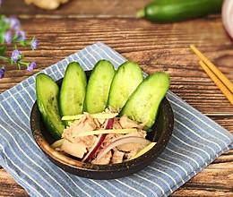 低脂瘦身 金枪鱼拌小黄瓜片#非常规创意吃鱼法#的做法
