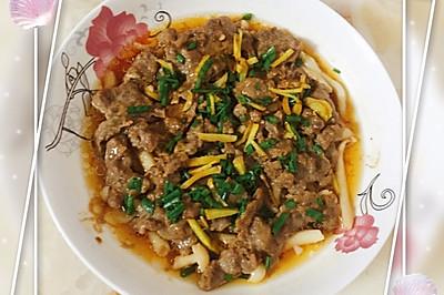 牛肉蒸海鲜菇