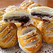 #元宵节美食大赏#红豆沙千层酥饼