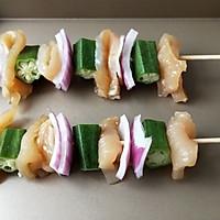 鸡肉洋葱彩蔬烤串#松下多面美味#的做法图解3