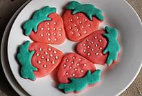 超萌的草莓饼干【拼贴饼干简单做】的做法