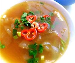减脂轻食~老黄瓜汤的做法