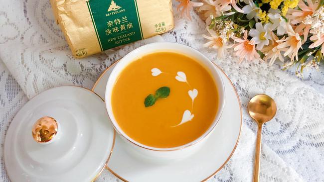 法式南瓜浓汤#奈特兰草饲营养美味#的做法