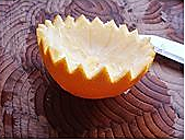 橙碗蒸蛋的做法图解4